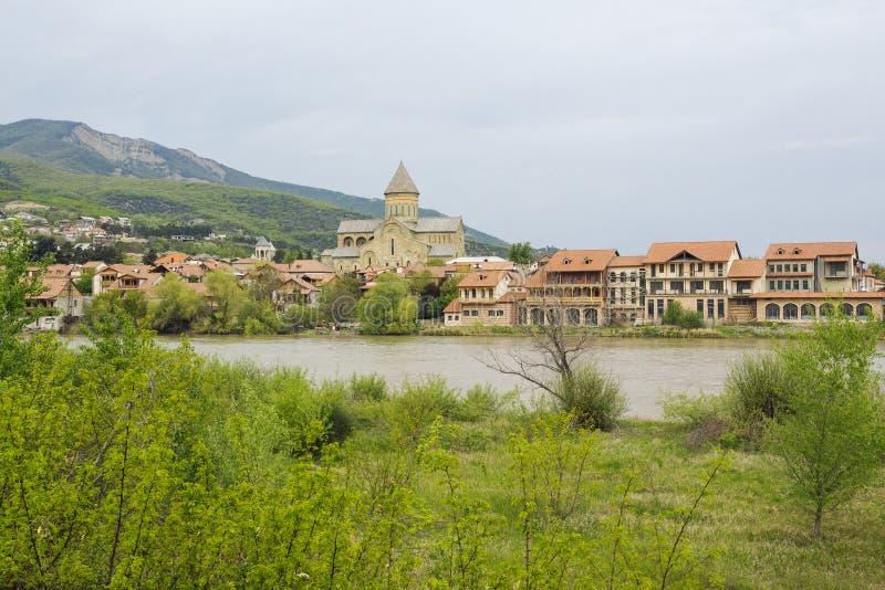 Das Svetitskhoveli-Kloster Mtskheta georgia Mtskheta ist die alte Hauptstadt von Georgia, von seiner kulturellen und historischen lizenzfreies stockfoto