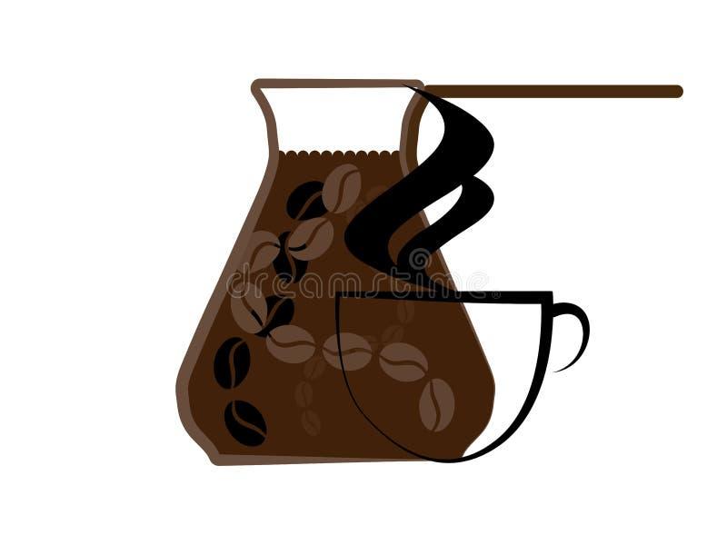 Das Türkische, Kaffee u. Topf stockbild
