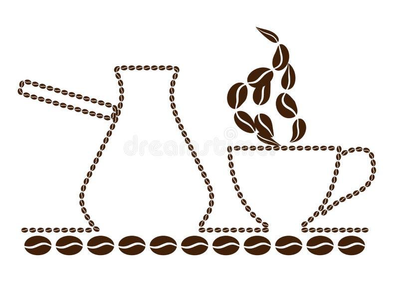 Das Türkische, Kaffee u. Topf stockfotografie