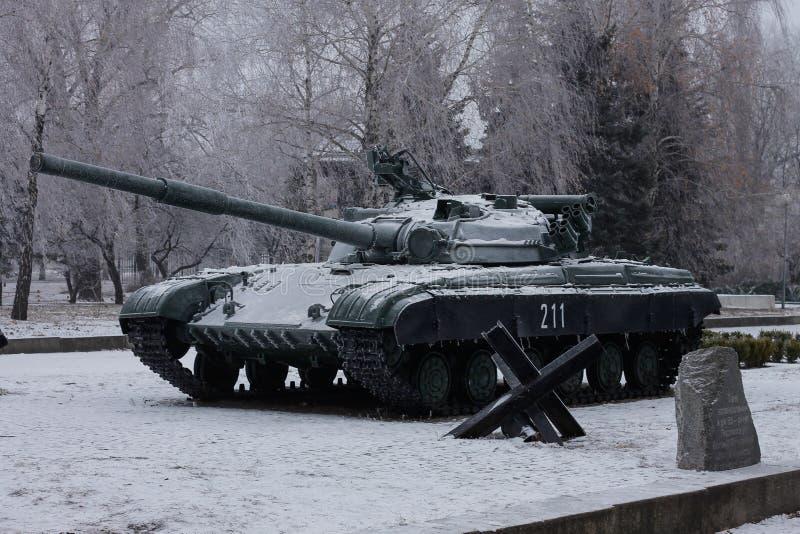 Das T-64 ist ein sowjetischer Hauptpanzer der zweiten Generation lizenzfreie stockfotografie