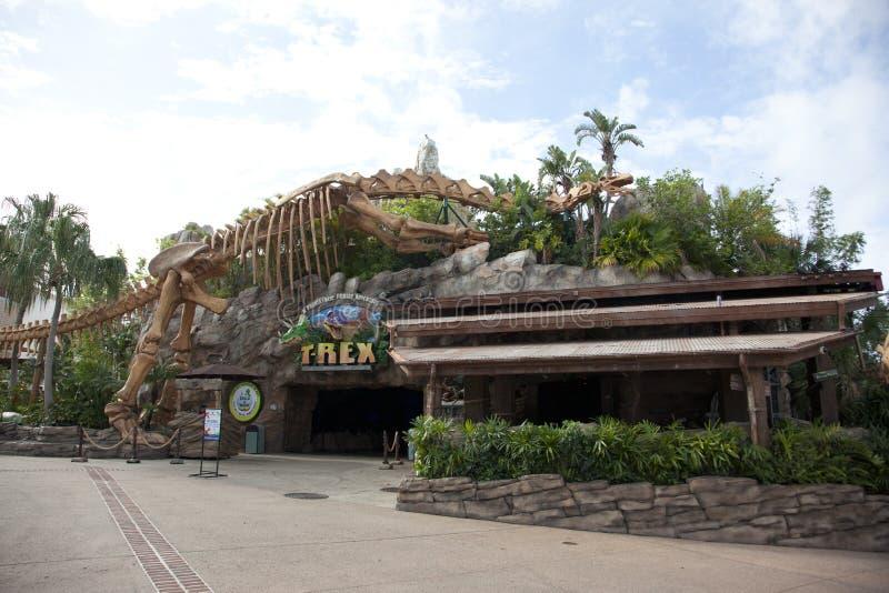 Das T-Rexrestaurant an Disney-Frühlingen lizenzfreies stockfoto