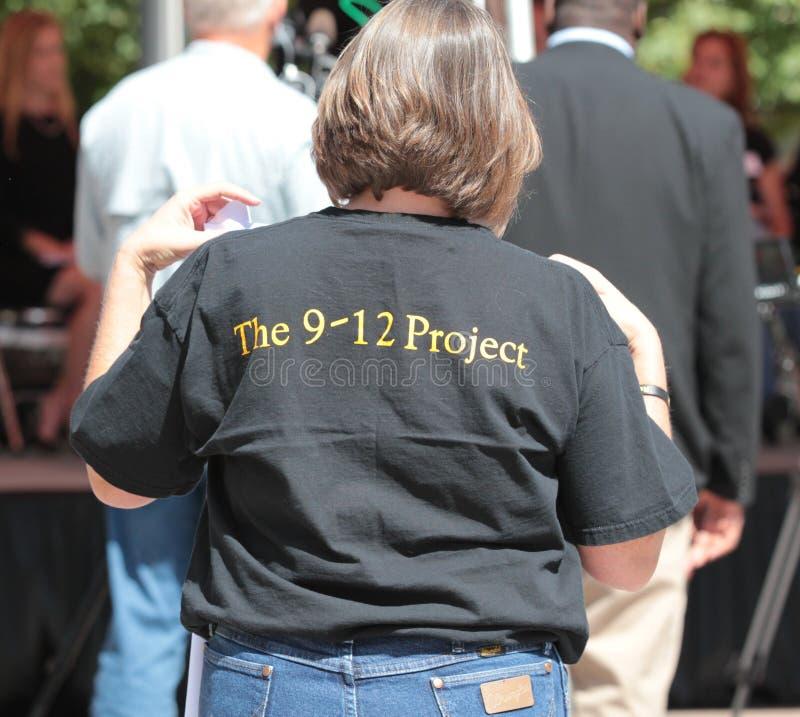 Das T-Shirt des Projektes 9-12 stockfotografie