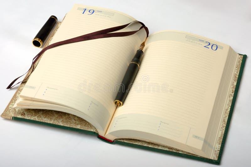 Das Tagebuch stockbild