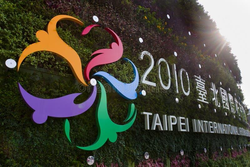 Das Taipei-internationale Flora-Ausstellung ZEICHEN stockbild