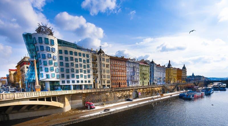 Das Tanzen-Haus, Prag lizenzfreie stockfotos