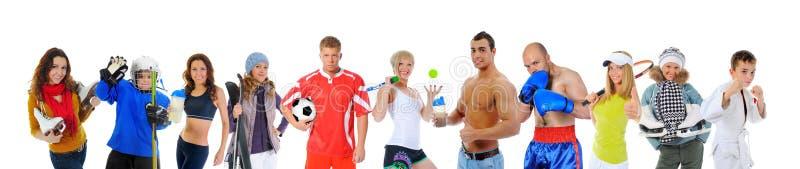 Das Team von großen Athleten stockfoto