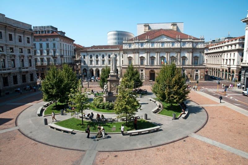 Das Teatro alla Scala in Mailand, Italien lizenzfreie stockfotos