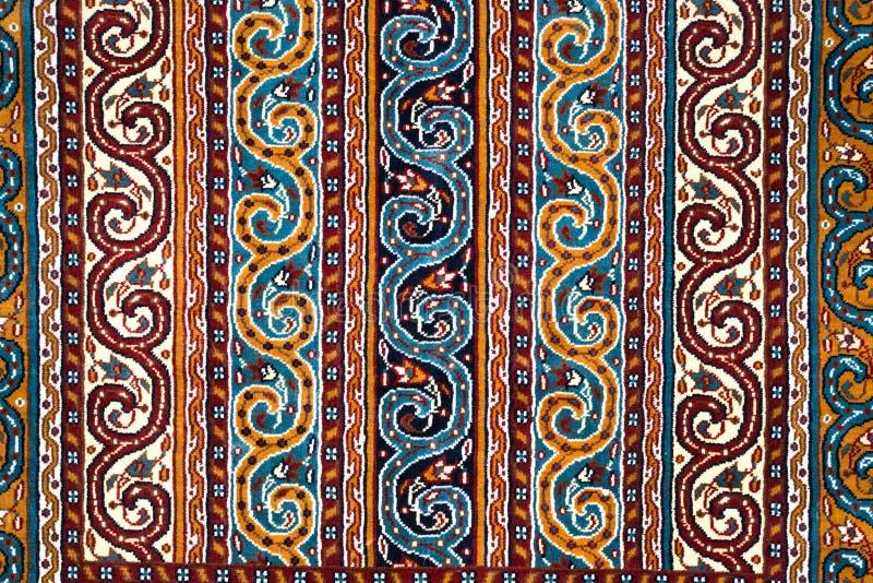 Das Teil von TürkischAserbaidschan-Teppich stockbild