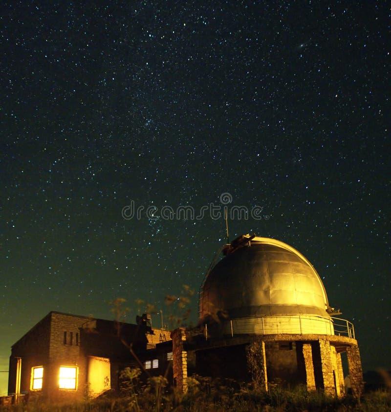Das Teleskop in den Elementen stockbild