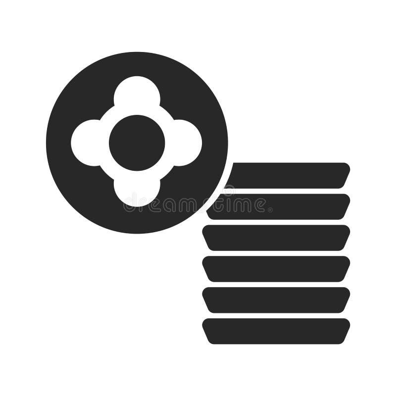 Das Tellerikonenvektorzeichen und -symbol, die auf weißem Hintergrund lokalisiert werden, richtet Logokonzept an stock abbildung