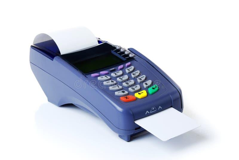 Das Terminal mit einer reinen Kreditkarte lizenzfreies stockfoto