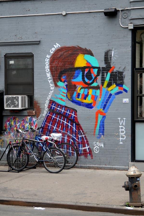 Das Terry Richardson-Wandgemälde gemalt von Bradley Theodore stockfotografie