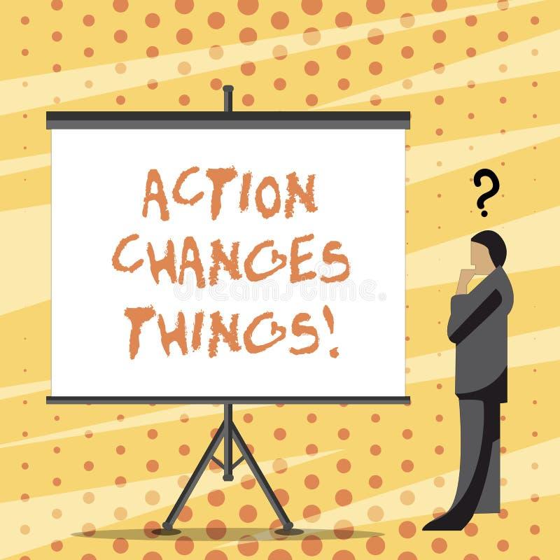 Das Textzeichen, das Aktion zeigt, ändert Sachen Begriffsfoto, sich zu verbessern stehen nicht noch ließ s ist, es zu tun vektor abbildung