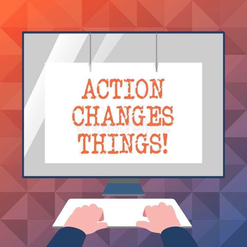 Das Textzeichen, das Aktion zeigt, ändert Sachen Begriffsfoto, sich zu verbessern stehen nicht noch ließ s ist, es zu tun lizenzfreie abbildung
