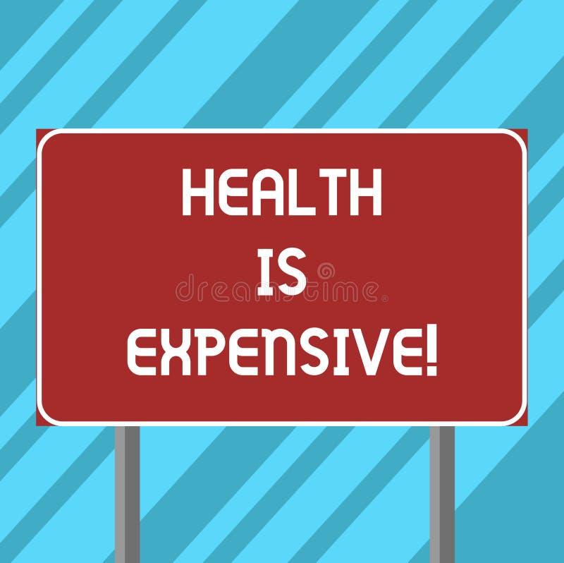 Das Textzeichen, das Gesundheit zeigt, ist teuer Begriffsfoto mach's gut Körper essen gesunden Spielsport, Verletzung freien Raum lizenzfreie abbildung