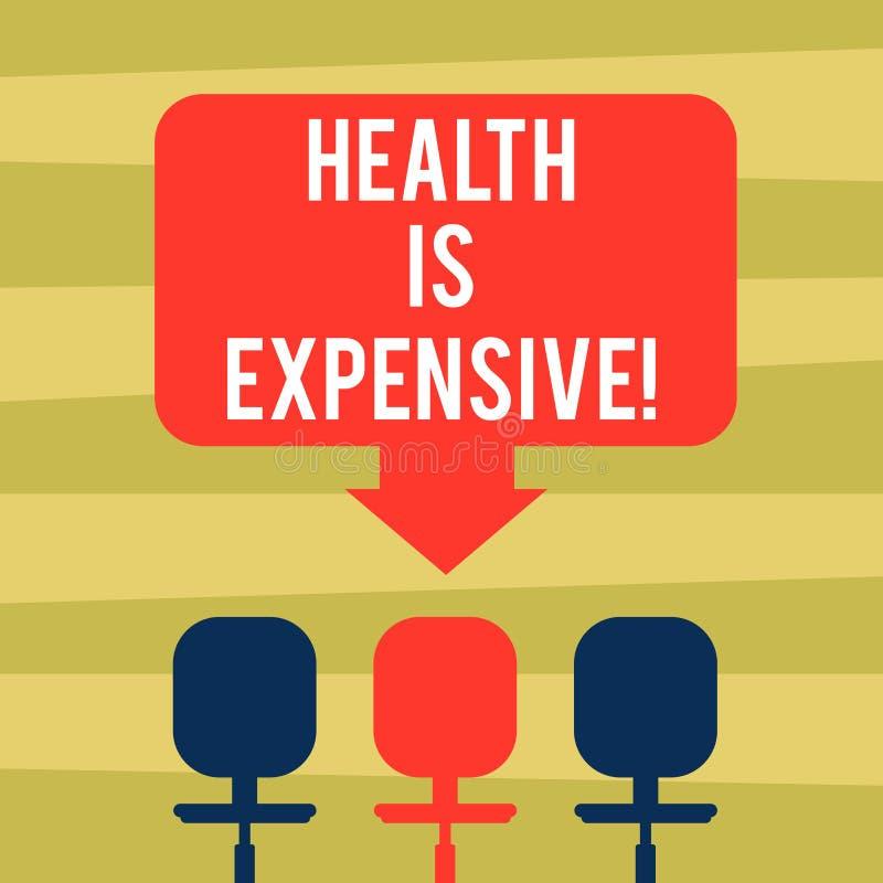 Das Textzeichen, das Gesundheit zeigt, ist teuer Begriffsfotomach's- gutKörper essen gesunden Spielsport, Verletzung Leerstelle z stock abbildung