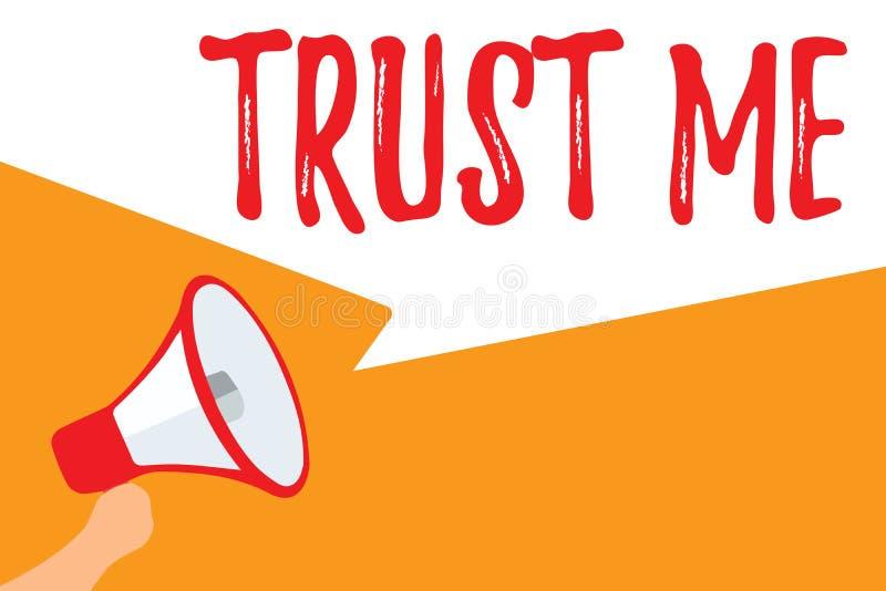 Das Textzeichendarstellen vertrauen mir Begriffsfoto Believe haben Glauben in anderer zeigender Angebotstützunterstützung lizenzfreie abbildung