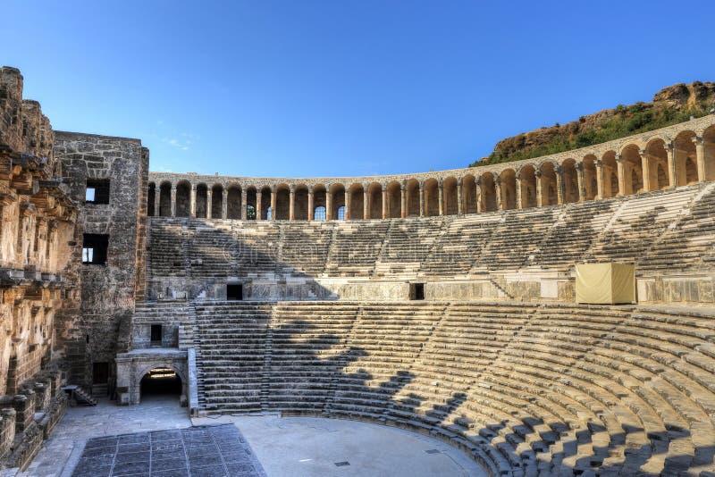 Das Theater alter Stadt Aspendos in Antalya lizenzfreie stockfotos