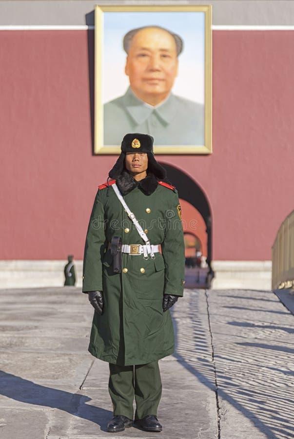 Das Tiananmen, Tor des himmlischen Friedens, Flughafen Pekings, China stockbild