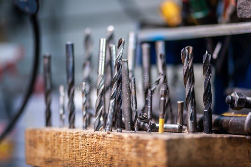 Das Tool-Kit des Nahaufnahme-Tischlers stockbilder