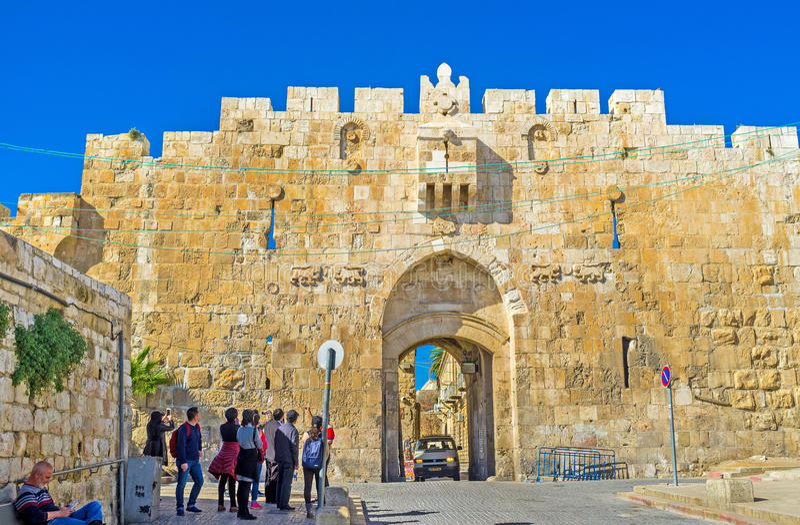 Das Tor der Löwen stockfoto