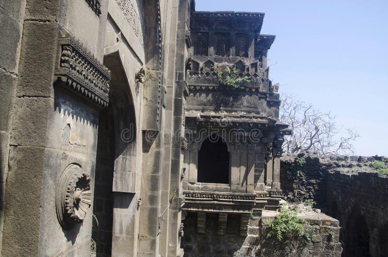 Das Tor Shahnur oder Mahakali, Narnala-Fort, nahe Akola, Maharashtra stockbilder