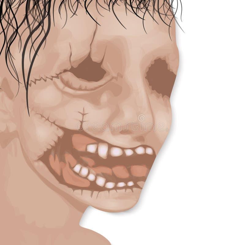 Das toten Gesicht des Mannes für Halloween-Vektor lizenzfreie stockfotografie