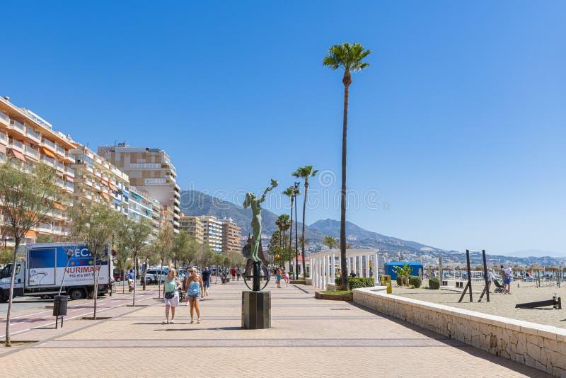 Das Tourismusdenkmal Fuengirola Spanien lizenzfreies stockbild