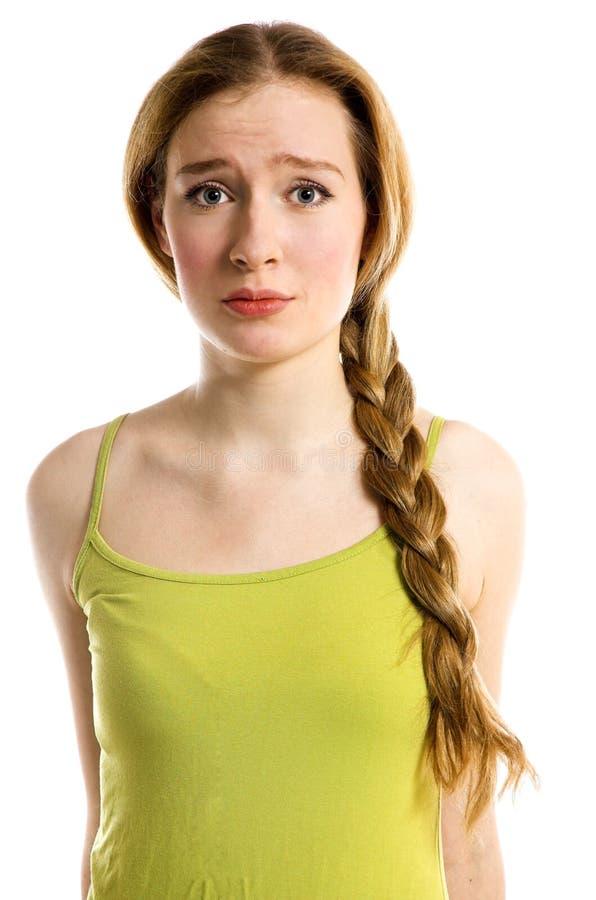 Das traurige Mädchen lizenzfreies stockbild