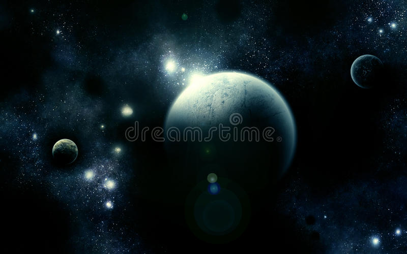 Das triumvirate-Universum-Blau lizenzfreie abbildung