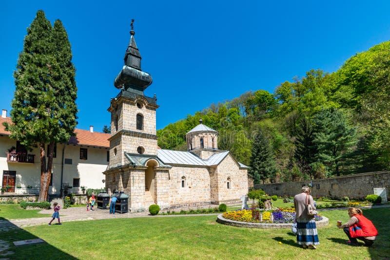 Das Tronosa-Kloster ist ein serbisches orthodoxes Kloster zum 14. Jahrhundert, eins von den ältesten orthodoxen stockbild