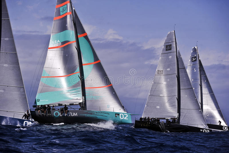 40º, das Trophy Conde de Godo segelt lizenzfreies stockfoto