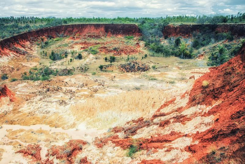 Das Tsingy-Rouge rotes Tsingy in der Region von Diana in Nord-Madagaskar stockfotos