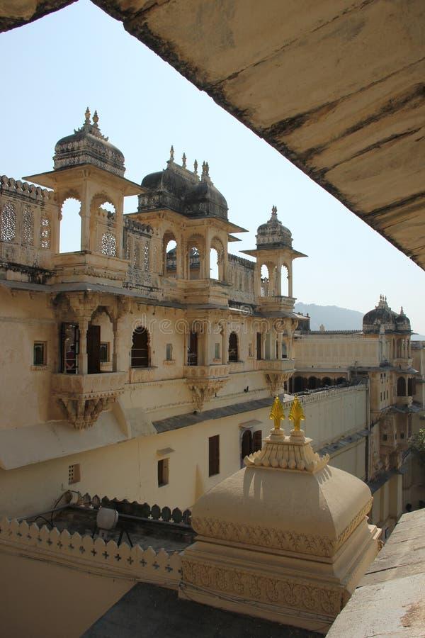 Das Udaipur-Stadt-Palastfort in Rajasthan stockfotografie