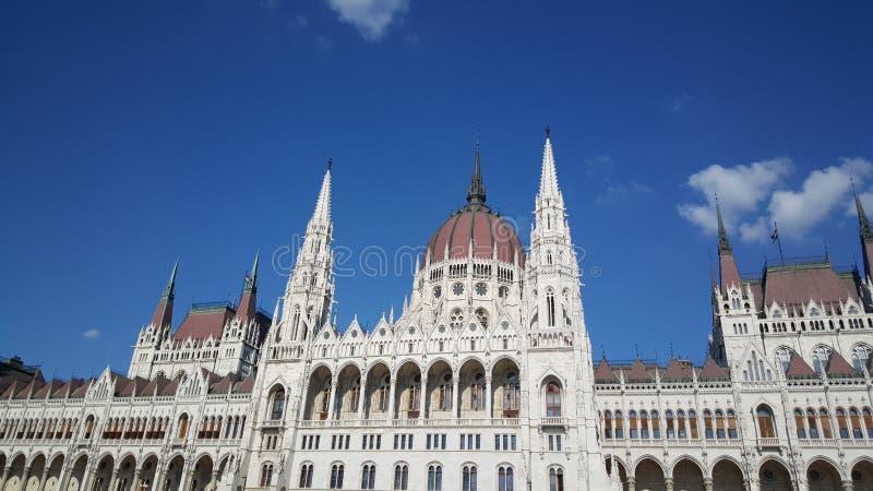 Das ungarische Parlamentsgebäude stockbild