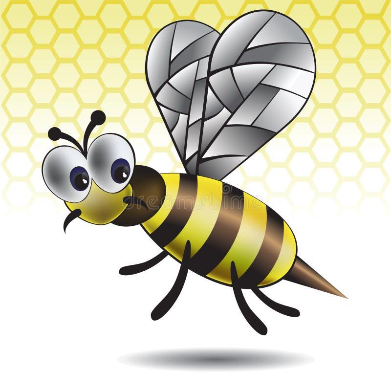 Das unterhaltende Vektorbild einer Biene stock abbildung