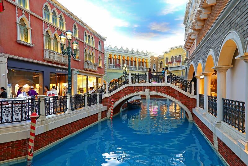 Das venetianische Hotelcanal grande, Macao stockbilder