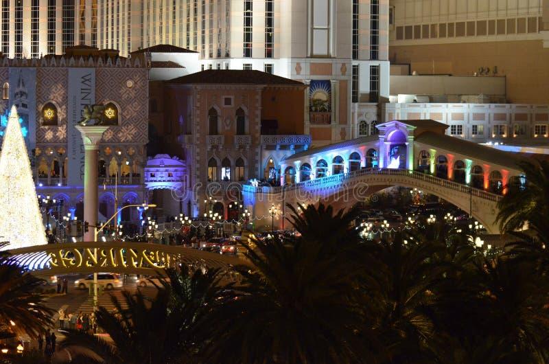 Das venetianische, Nacht, Stadtgebiet, im Stadtzentrum gelegen, glättend stockfotos