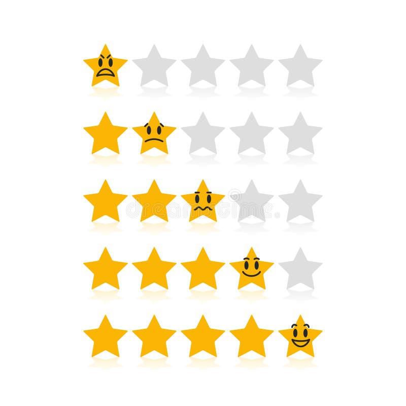 Das Veranschlagen spielt für Kundendienst mit lustigen verschiedenen Gefühlen die Hauptrolle vektor abbildung