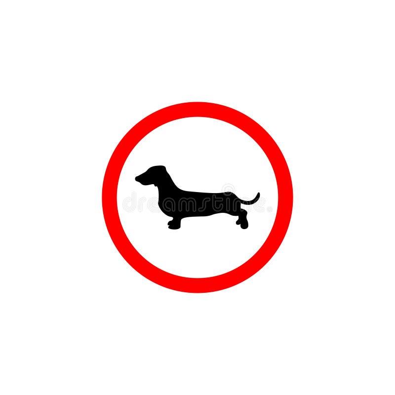 Das Verbot auf Bearbeitung eines ge?ffneten Feuers Verboten f?r Hunde lizenzfreie abbildung