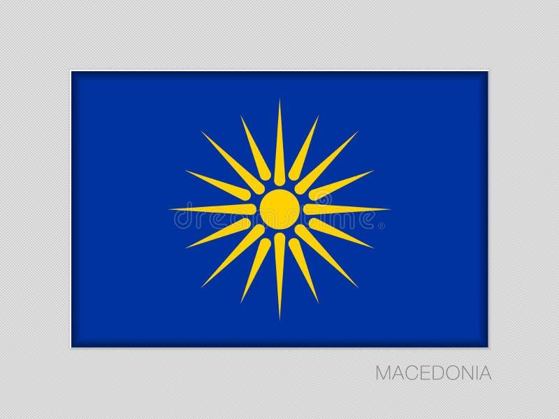 Das Vergina Sun Mazedonische Flaggen-nicht offizielle Version Nationales en stock abbildung