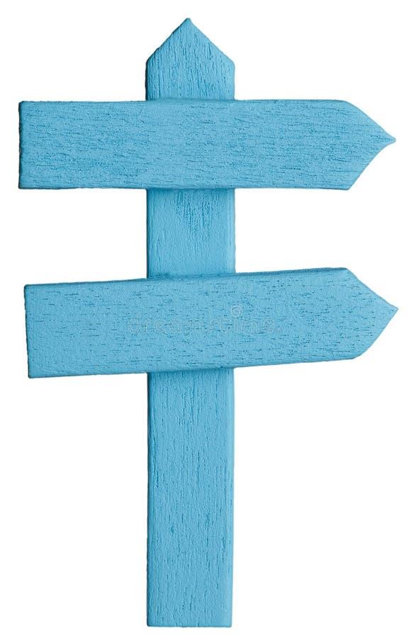 Das Verkehrsschild der blauen Farbe lizenzfreies stockfoto