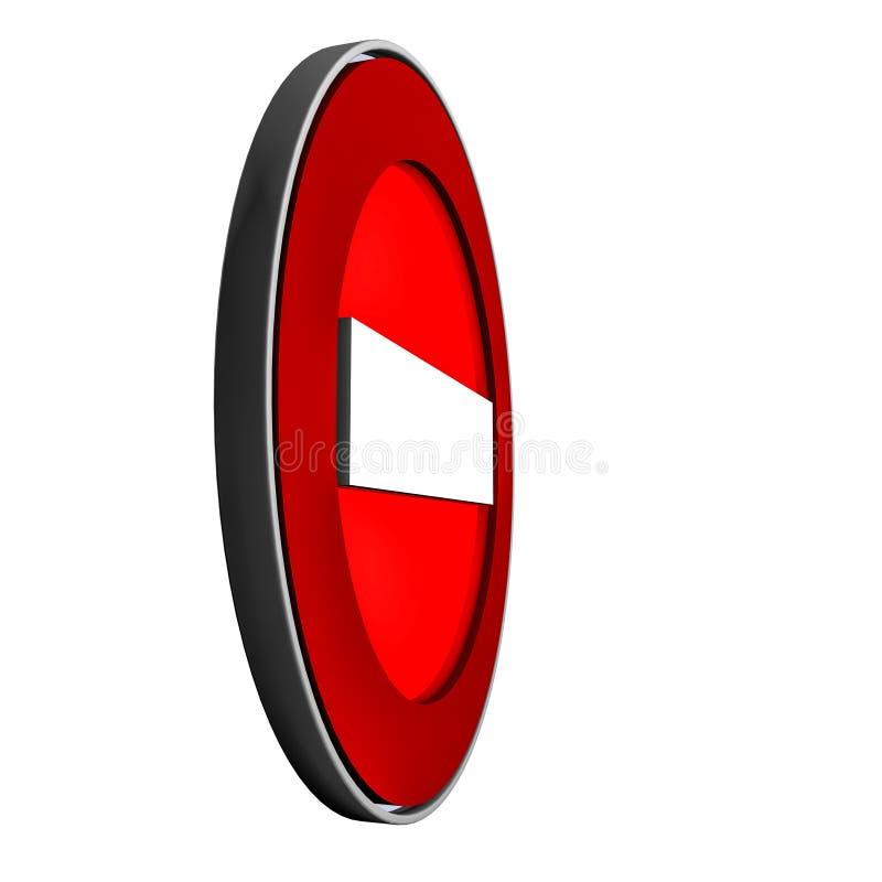 Das Verkehrsschild wird verboten Wiedergabe 3d stock abbildung
