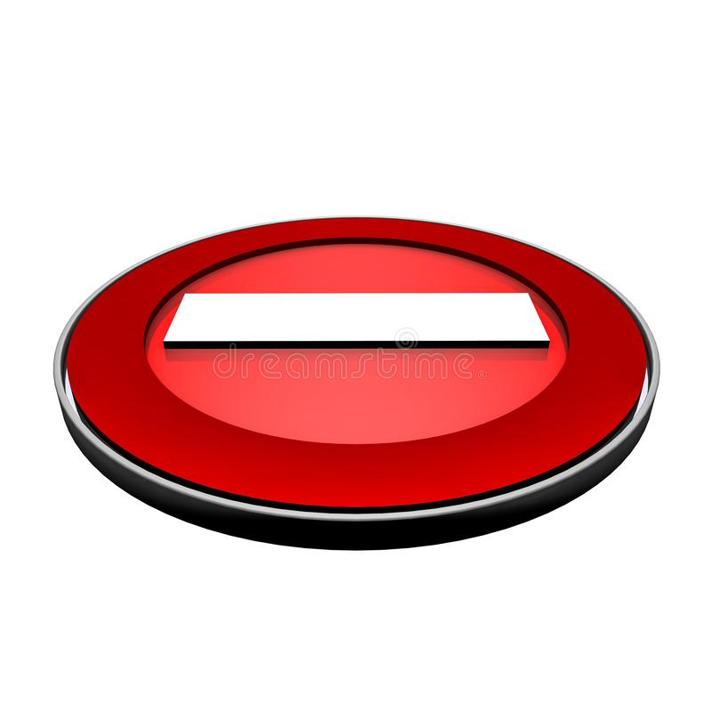 Das Verkehrsschild wird verboten Wiedergabe 3d vektor abbildung