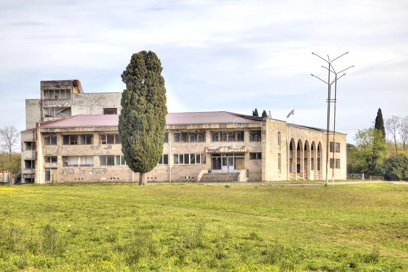 Das Verwaltungsgebäude des Dorfs von Lykhny lizenzfreies stockbild