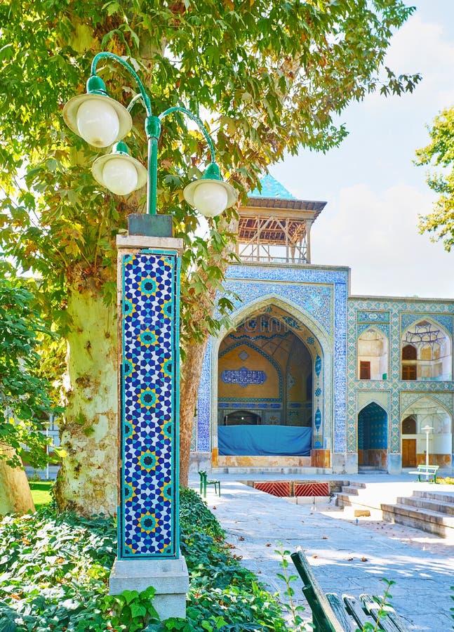 Das vier Gärten madraseh, Isfahan, der Iran stockbild