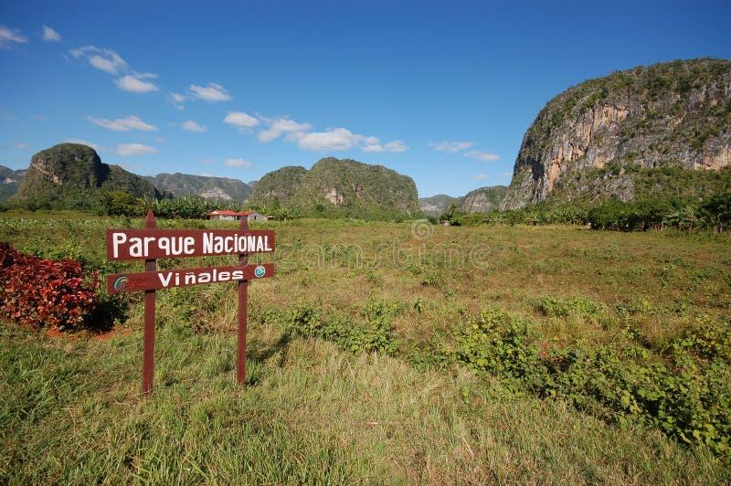 Das Vinales Tal in Kuba stockbilder