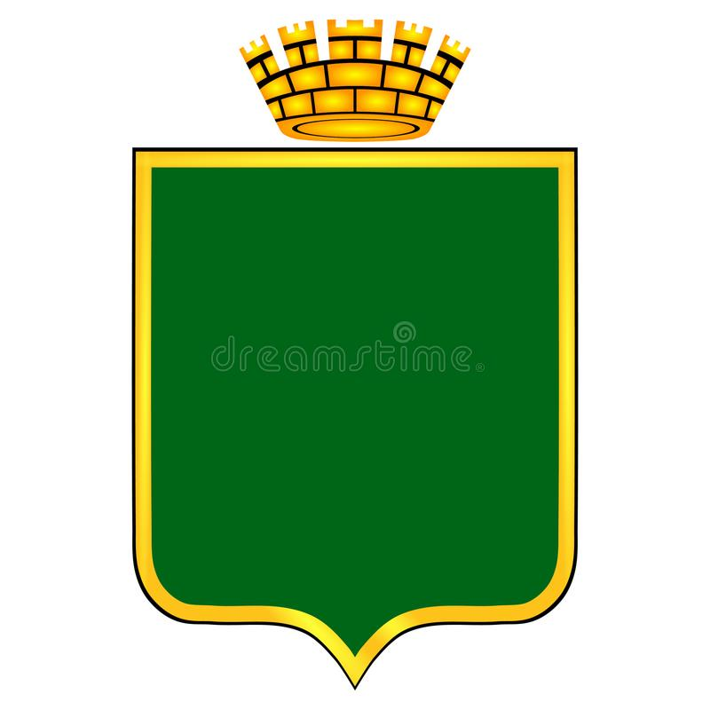Das Wappen mit dem Bild stockbild
