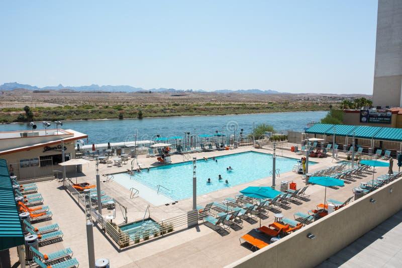 Das Wassermann-Hotel-Pool stockbilder