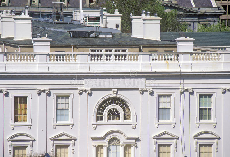 Das Weiße Haus, eine Ansicht von privaten Vierteln, Washington, DC lizenzfreies stockbild